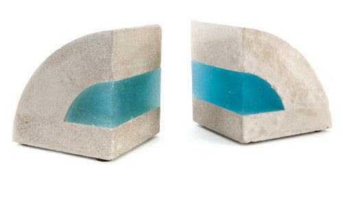 CONCRETE & RESIN BOOKENDS