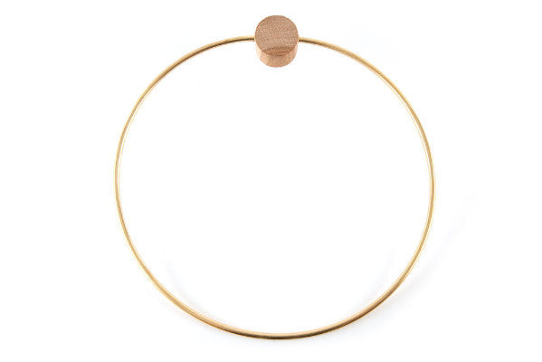 CIRCLE BRASS TOWEL HANGER