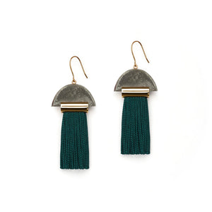 GRAVITY TASSEL EARRINGS - HUNTER