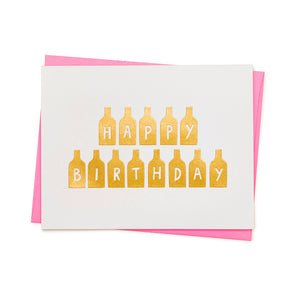 HAPPY BIRTHDAY BOTTLES CARD