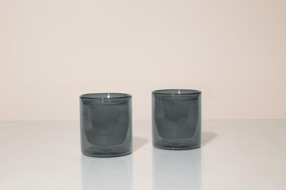 DOUBLE-WALL 6OZ GLASSES - GREY