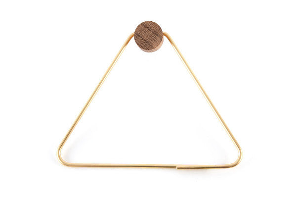 TRIANGLE BRASS TOILET PAPER HOLDER