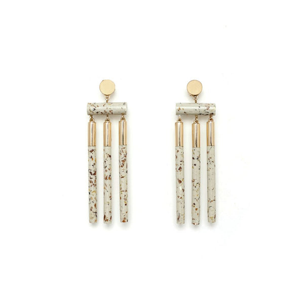 ISOTOPE EARRINGS - LIGHT GRANITE