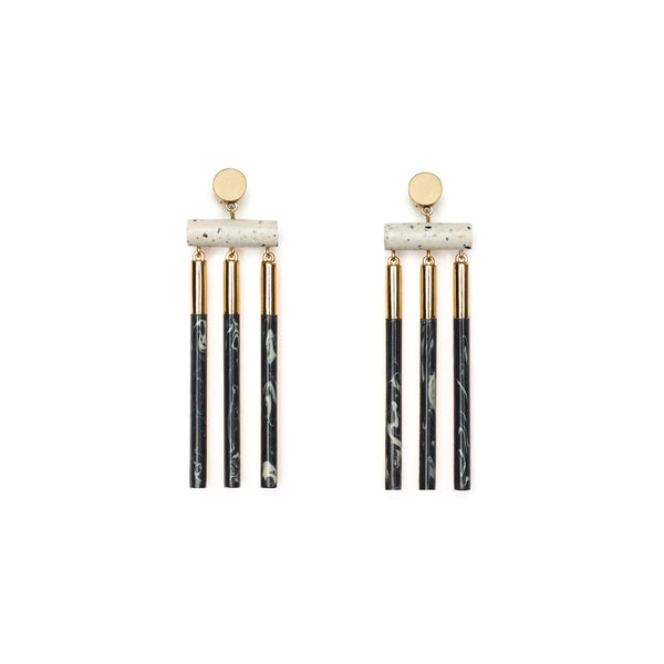 ISOTOPE EARRINGS - ASH DUST