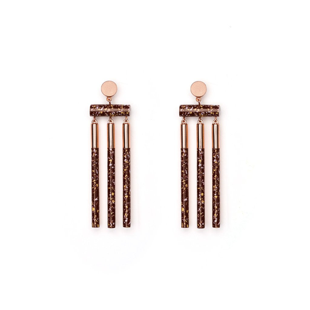 ISOTOPE EARRINGS - SHIRAZ GRANITE