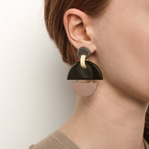 KINETIC EARRINGS - OLIVE