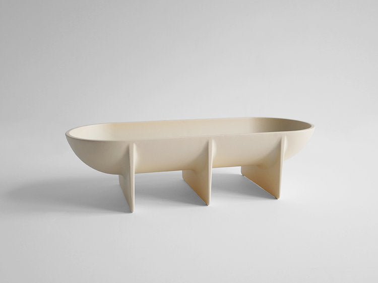 STANDING BOWL - LARGE CREAM