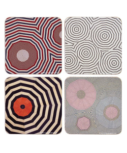 CORK BOARD COASTER SET - FABRIC SERIES