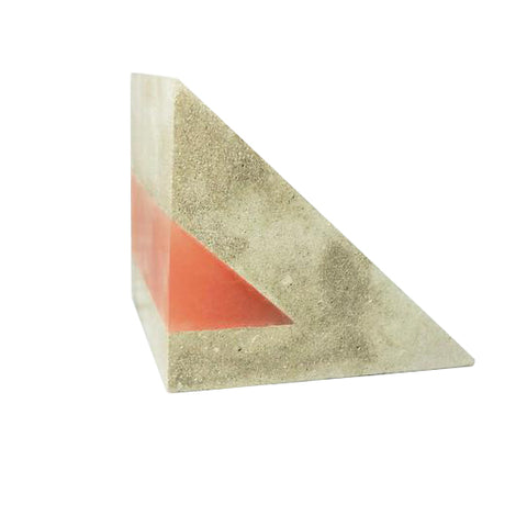 EXTRA LARGE WEDGE CONCRETE & RESIN BOOKEND