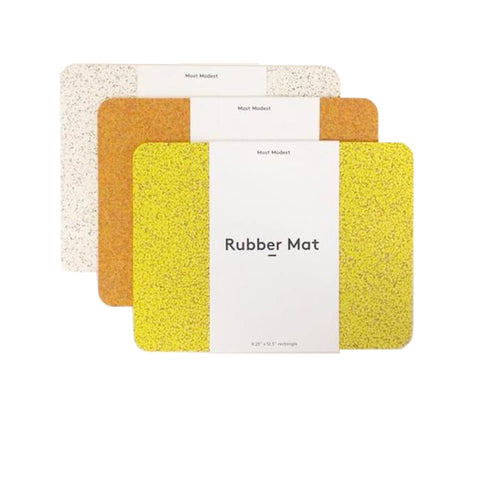 RUBBER MAT YELLOW SMALL