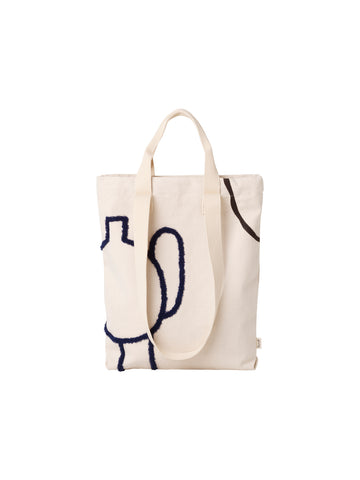 MIRAGE TOTE BAG BLACK AND BLUE