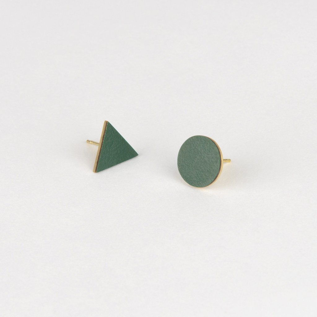 MIX MATCH EARRINGS - GREEN