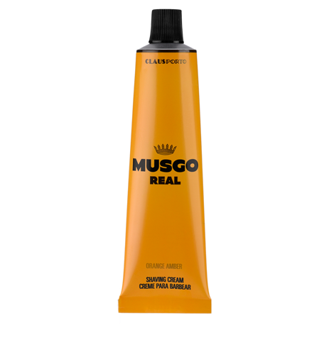 MUSGO REAL SHAVING CREAM - ORANGE AMBER