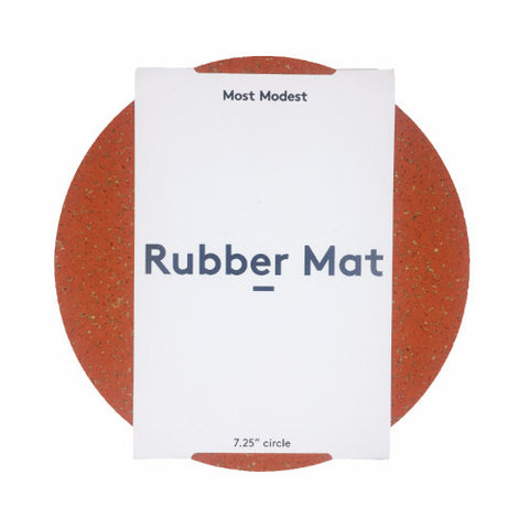 CIRCLE ORANGE RUBBER MAT
