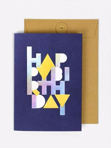 HOLOGRAPHIC BIRTHDAY CARD