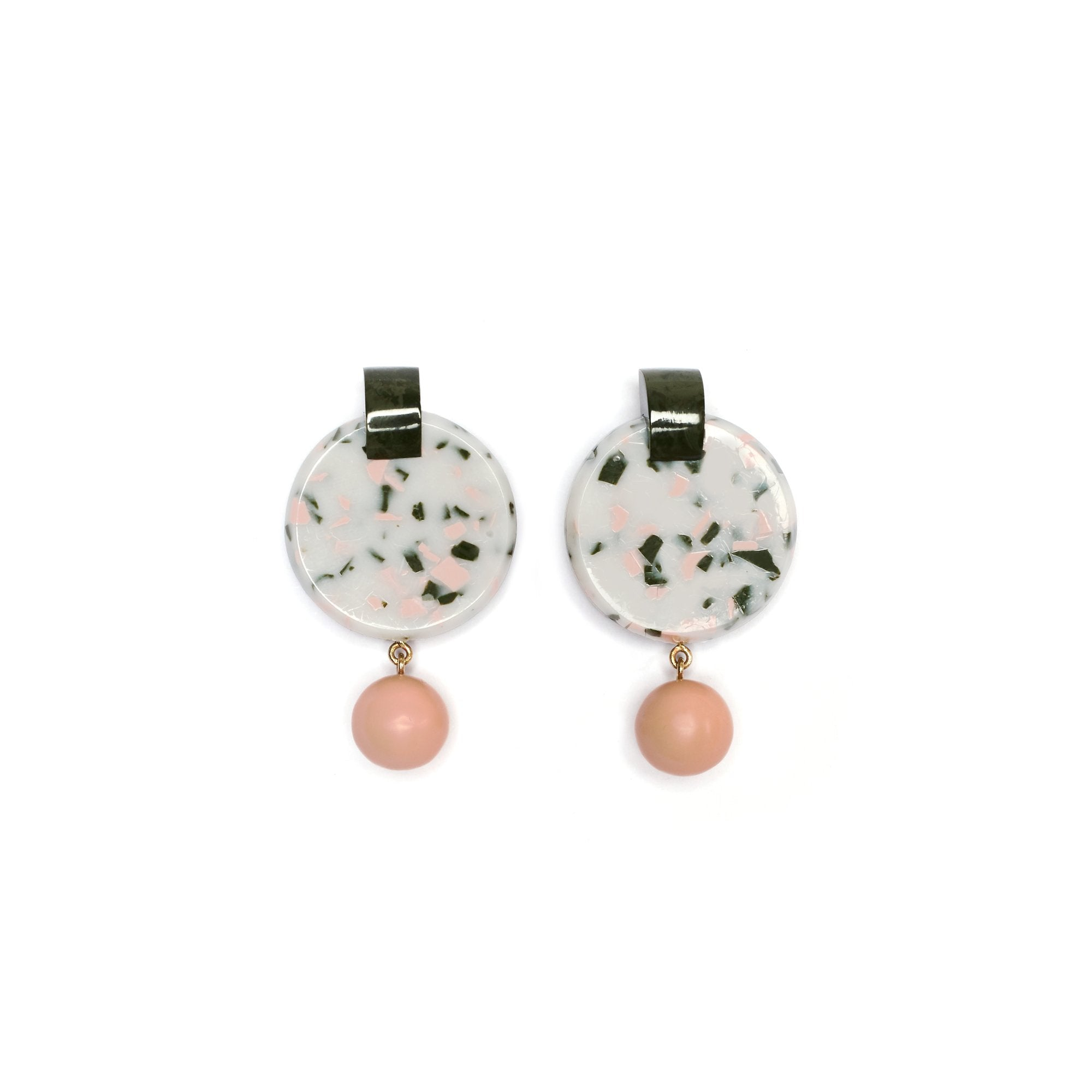 OLYMPUS EARRINGS - PUDDING STONE