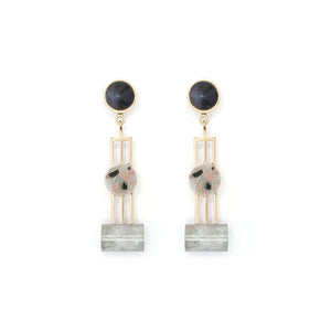 OBELISK EARRINGS - STONE MARLE