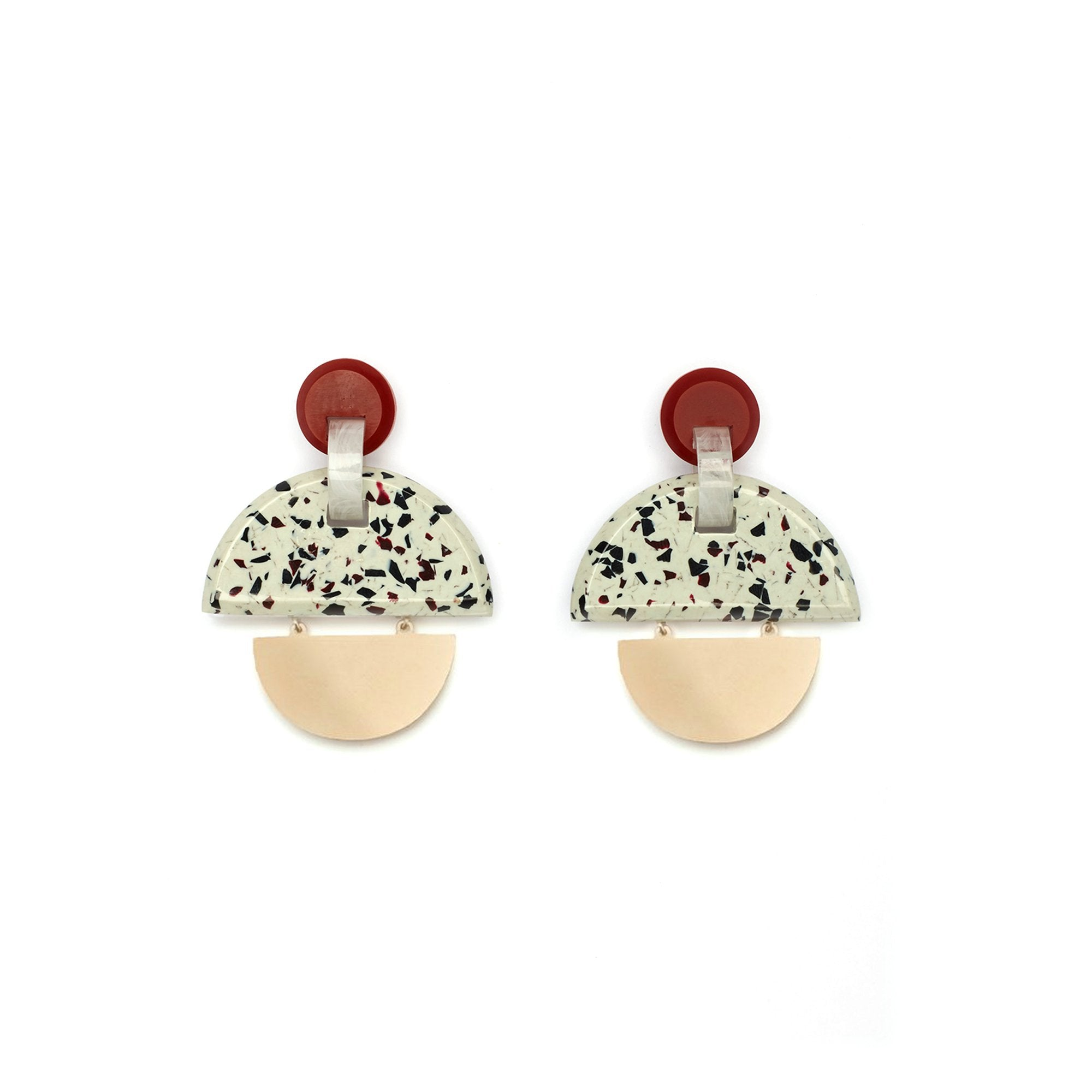 KINETIC EARRINGS - MIX GRANITE