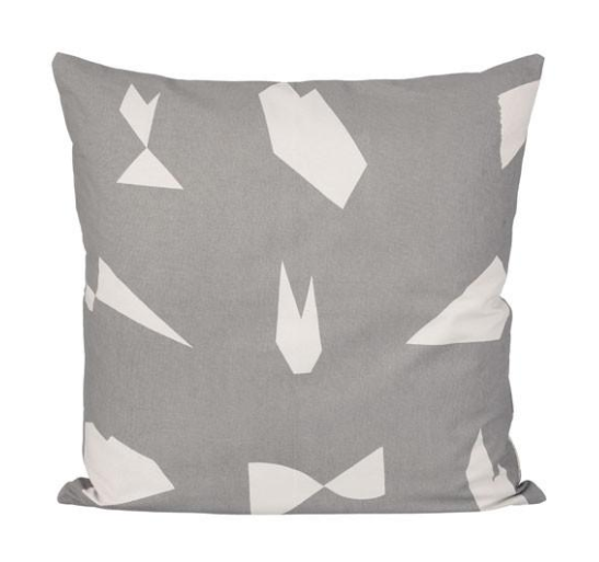 Cut Cushion Grey