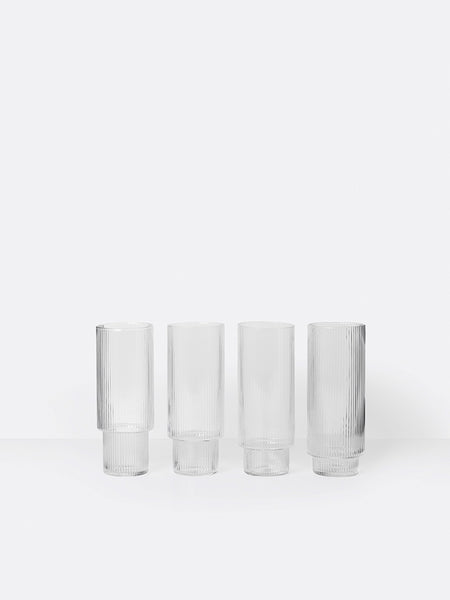 TALL RIPPLE GLASS SET