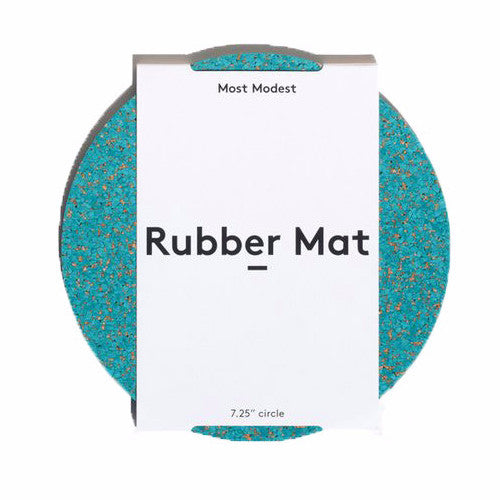 CIRCLE TEAL RUBBER MAT