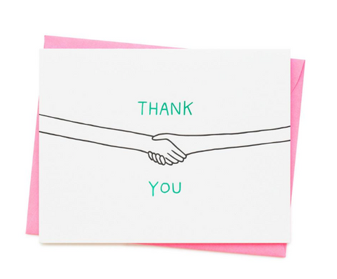 THANK YOU SHAKING HANDS CARD