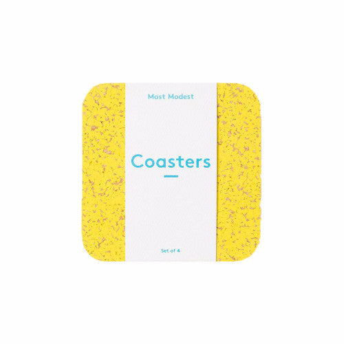 RUBBER COASTERS YELLOW