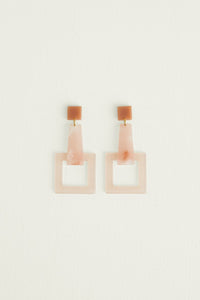 GIRAFE EARRINGS PINK