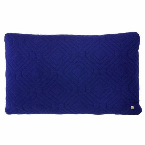 DARK BLUE QUILT CUSHION