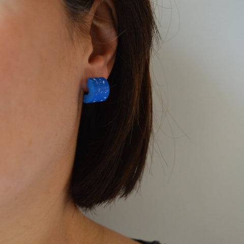 SPECKLED BLUE EARRINGS