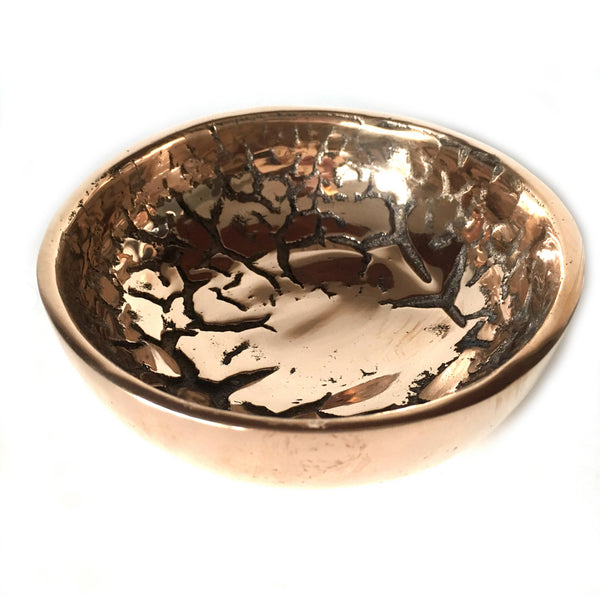 SMALL BRONZE LILY KING BOWL BY PEARCE