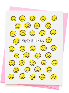 HAPPY FACE BIRTHDAY CARD