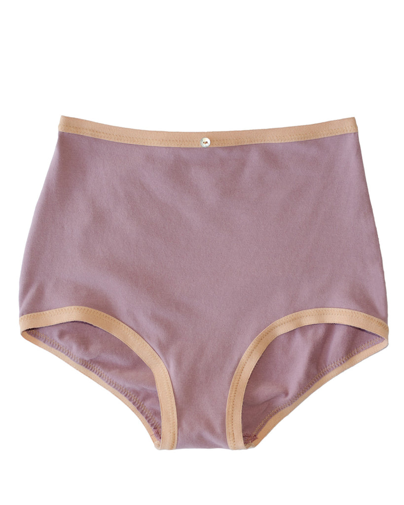 Astra Hi-Waist Brief- Amethyst- Organic Cotton