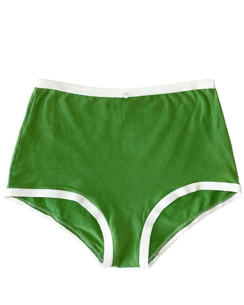 Astra Hi-Waist Brief- Basil - Organic Cotton