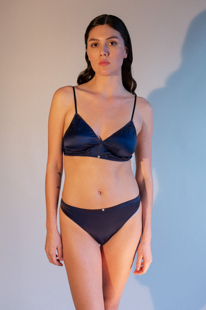 Vina Bralette - Midnight- Stretch Silk