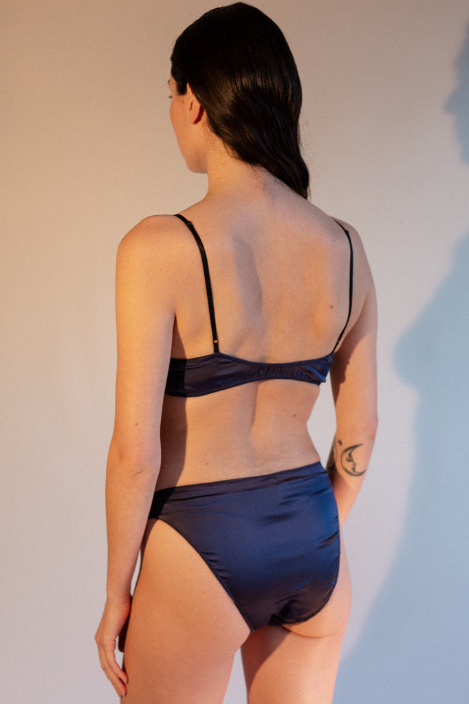 Vina Bralette - Midnight - Stretch Silk