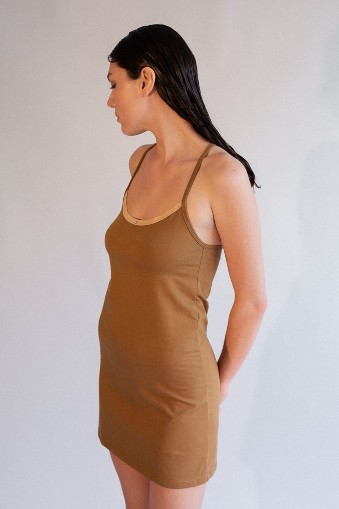 Daisy Cami Dress - Fennel - Organic Cotton