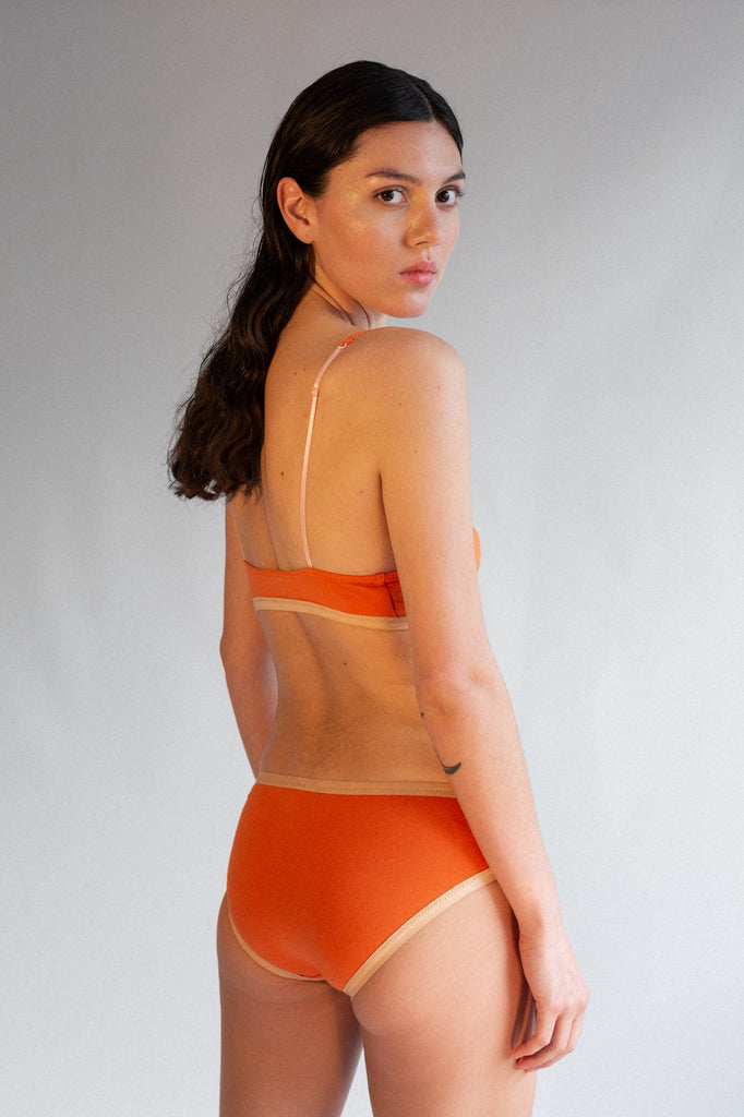 Lila Bikini Brief- Sunset- Organic Cotton