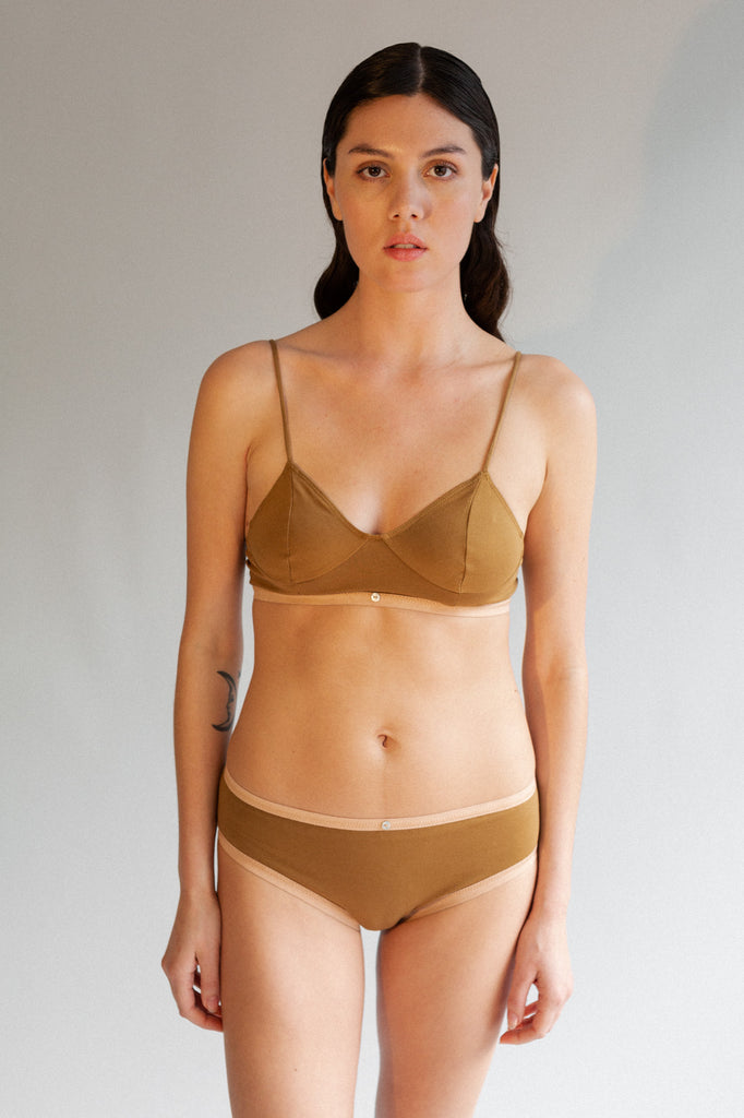 Lila Bikini Brief- Fennel- Organic Cotton