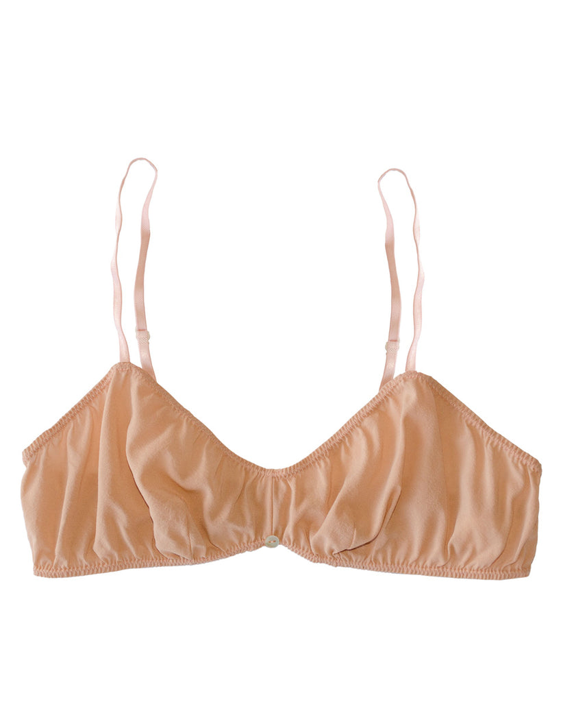 Romy Bralette- Pink- Stretch Silk