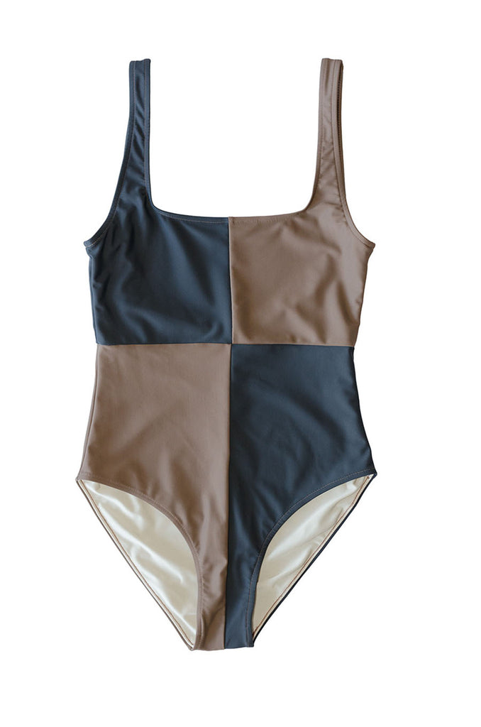 Rika Swimsuit- Tamarind/Slate- Recycled Nylon