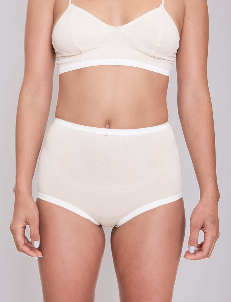 Astra Hi-Waist Brief- Natural- Organic Cotton