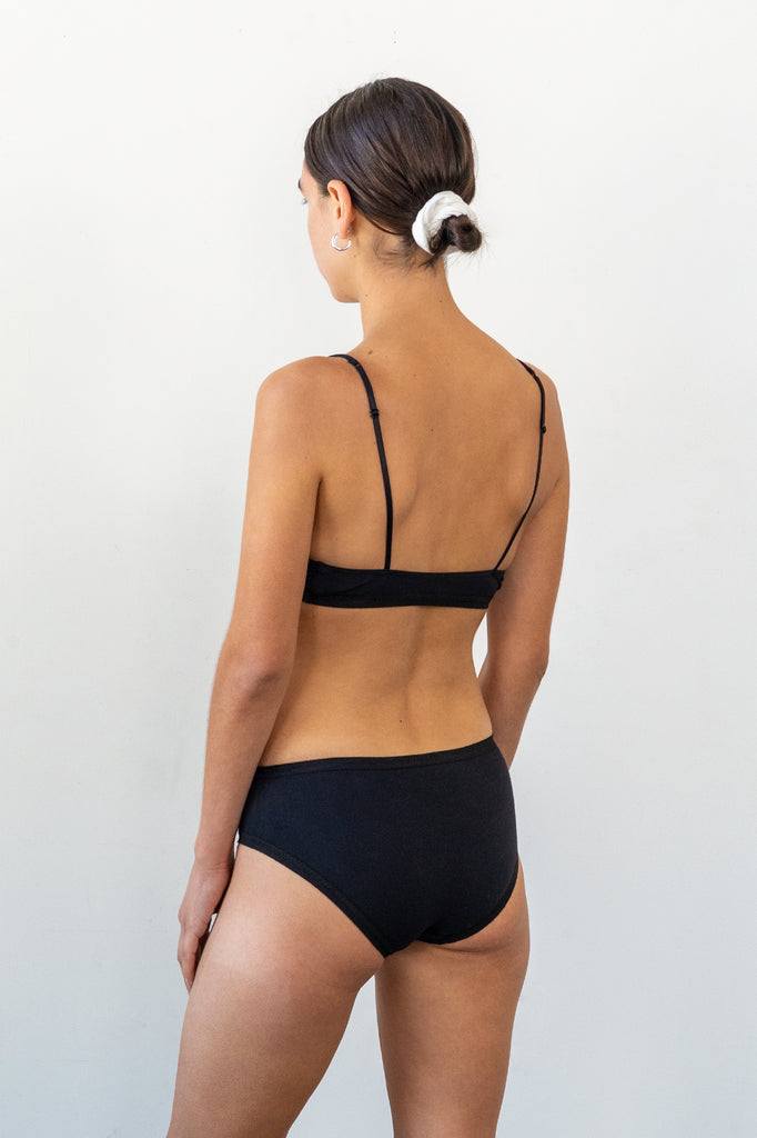 Aya Bralette - Black - Organic Cotton