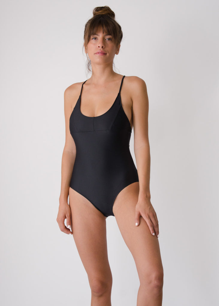 Nami Swimsuit- Black - Recycled Nylon