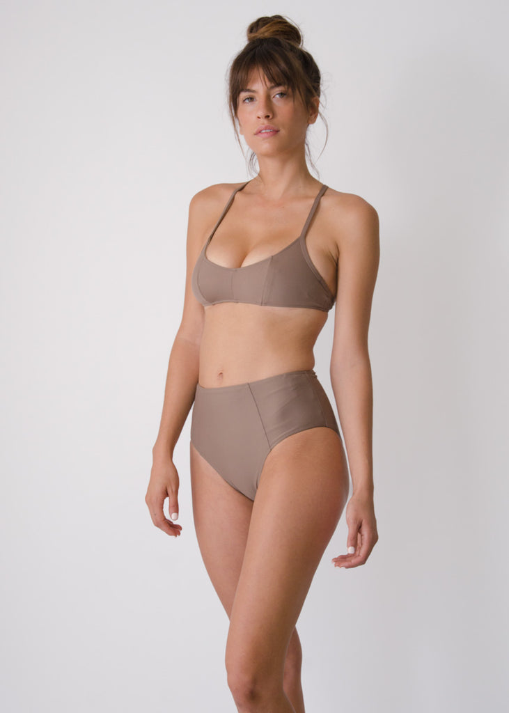 Botan Swim Top- Tamarind- Recycled Nylon