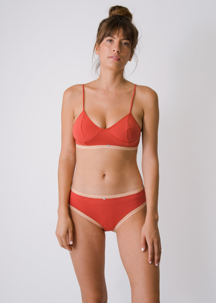Lila Bikini Brief- Goji- Organic Cotton
