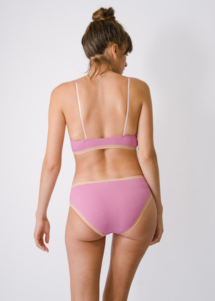Lila Bikini Brief- Rose - Organic Cotton