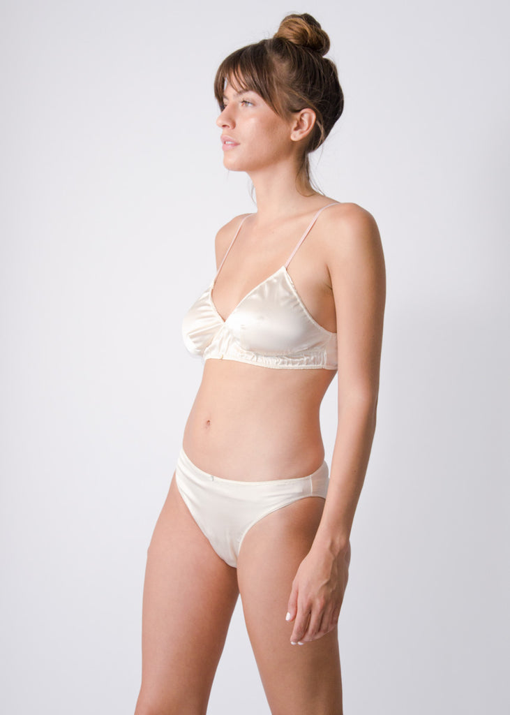 Vina Bralette- Pearl- Stretch Silk