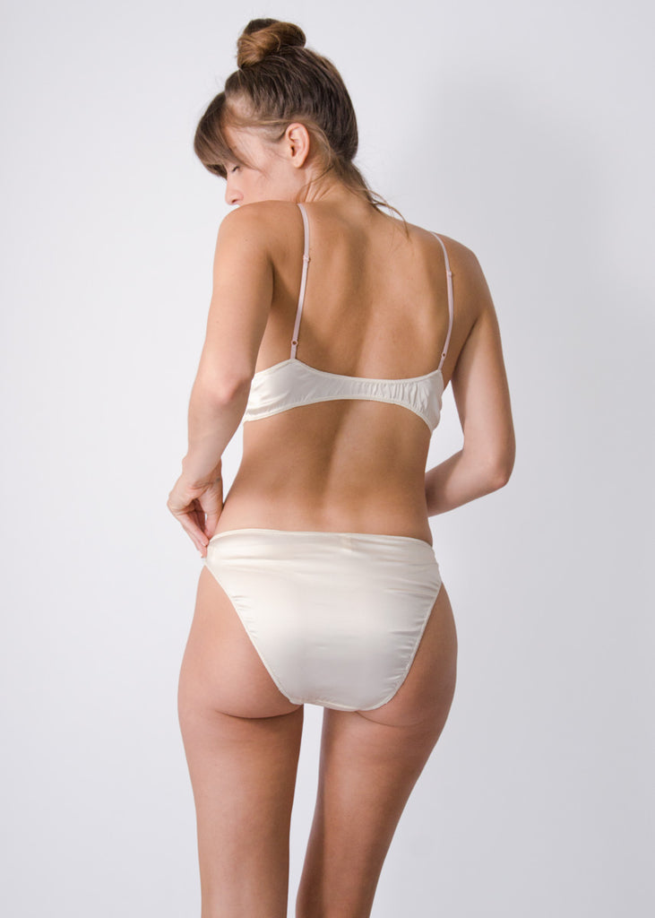 Rio Brief- Pearl- Stretch Silk