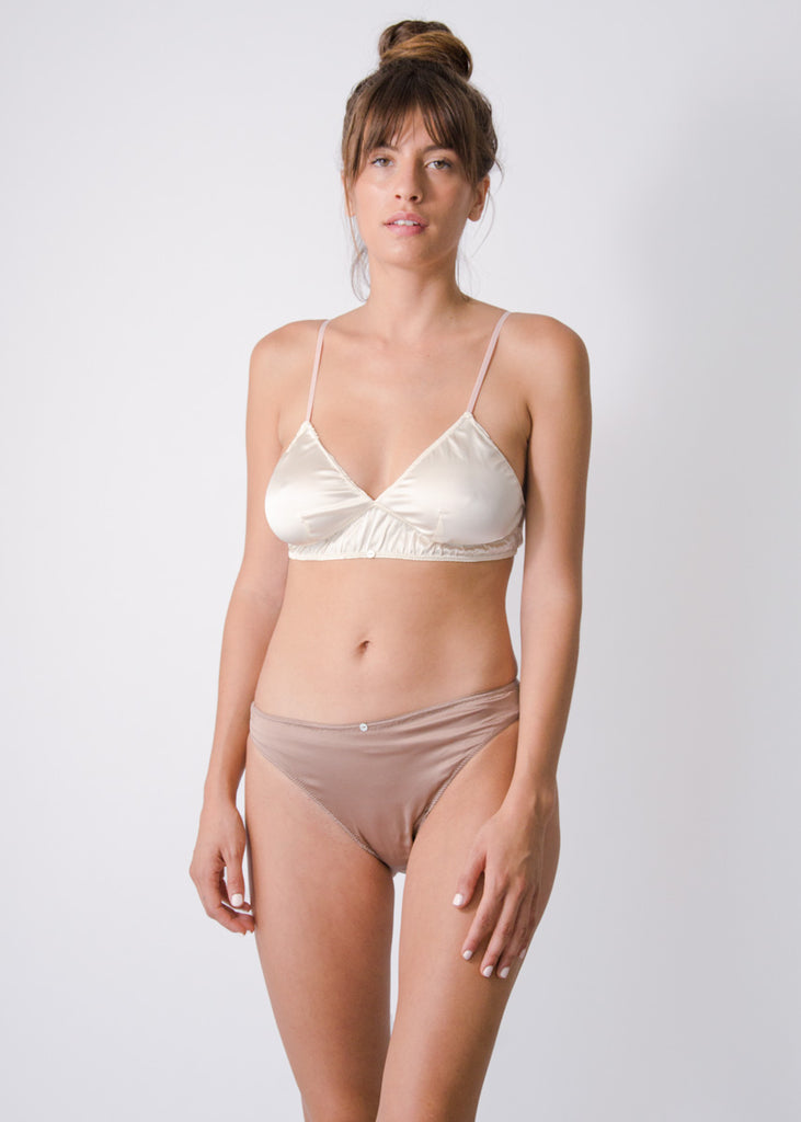 Rio Brief- Cocoa- Stretch Silk